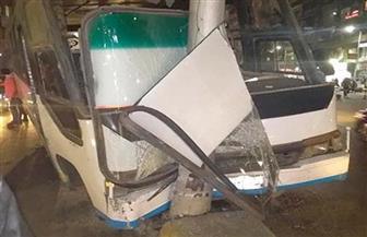 إصابة 12 شخصا إثر اصطدام أتوبيس نقل جماعي بعامود إناره بالدقي