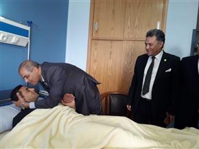 رئيس جامعة الأزهر يزور مصابي حادث الدرب الأحمر بمستشفى الشرطة | صور