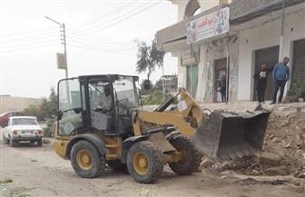 إزالة 41 حالة تعد بمدينة القرنة غرب الأقصر   صور