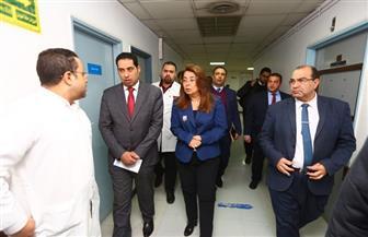 غادة والي تزور مصابي حادث محطة مصر| صور