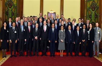 الرئيس السيسي يستقبل وفدا اقتصاديا ألمانيا يضم رؤساء كبرى الشركات الألمانية وأعضاء بالبرلمان