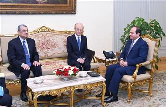 الرئيس السيسي يستقبل مدير الوكالة الدولية للطاقة الذرية | صور