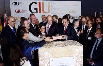 وضع حجر أساس إنشاء الجامعة الألمانية بالعاصمة الإدارية الجديدة | صور