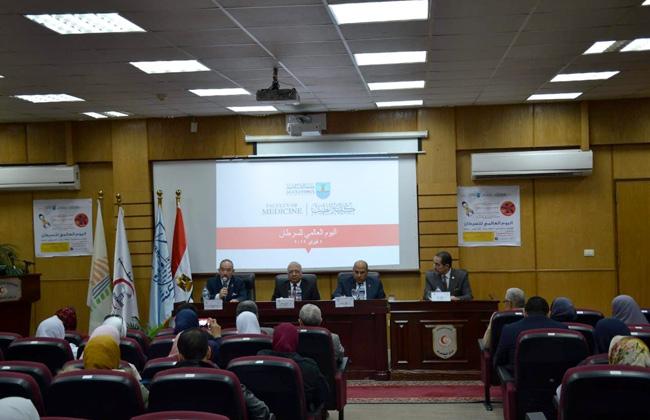 في اليوم العالمي للسرطان..طب الإسكندرية تنظم مؤتمرا للتوعية حول مخاطره   صور -