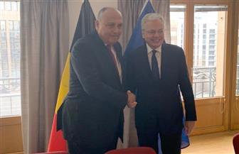 شكري يعقد مباحثات ثنائية مع نظيره البلجيكي على هامش الاجتماع الوزاري العربي الأوروبي