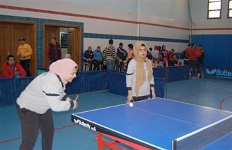 منتخب تنس طاولة جامعة سوهاج يفوز على طنطا | صور