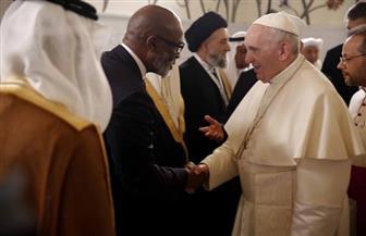 """بابا الفاتيكان يوجه من أبو ظبي التحية إلى الرئيس السيسي ويصف زيارته إلي الإمارات بـ""""غصن الزيتون"""""""