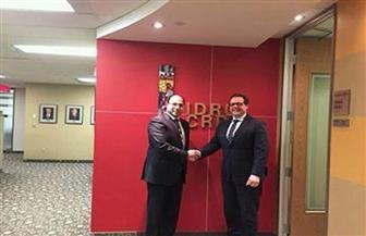 سفير مصر بكندا يلتقي برئيس المركز الكندي لبحوث التنمية الدولية IDRC
