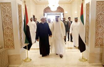 ولي عهد أبو ظبي يودع شيخ الأزهر في ختام زيارته إلى الإمارات