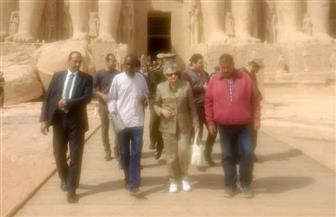 زوجة الرئيس الفرنسي الأسبق تزور معبد أبو سمبل | صور