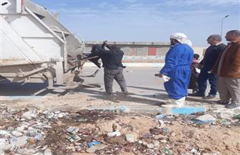 تفعيل خطة شاملة للنظافة بمدينة النجيلة بمطروح | صور