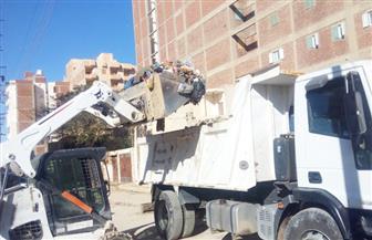 حملة لإزالة الإشغالات بمدينة مرسى مطروح | صور