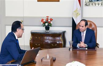 الرئيس السيسي يجتمع مع رئيس الوزراء لمتابعة آخر تطورات المشروعات القومية التنموية