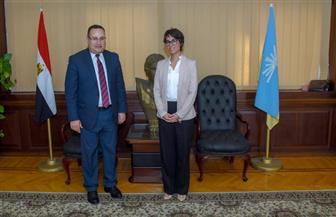 قنصل فرنسا بالإسكندرية: زيارة الرئيس لمصر كانت ناجحة جدا.. وسنبدأ في تنفيذ الاتفاقيات   صور