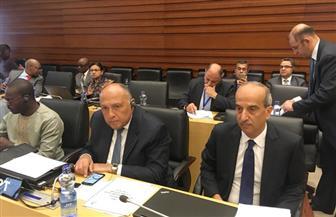 تفاصيل مشاركة وزير الخارجية  في اجتماع اللجنة الوزارية المختصة بتقدير الأنصبة والإسهامات