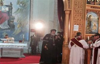البابا تواضروس يترأس صلوات العشية بكنيسة الأنبا بيشوي بالإسماعيلية   صور