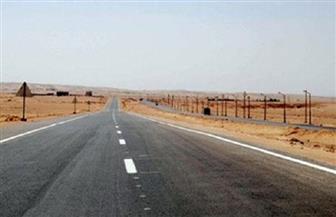 سقوط أمطار غزيرة على طريق رأس غارب - الشيخ فضل.. وإغلاق طريق الزعفرانة