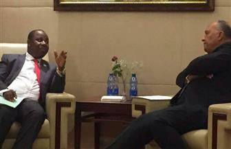 وزير الخارجية يستقبل نظيره البوروندي على هامش الاجتماعات التمهيدية للقمة الإفريقية