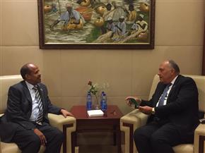 وزير الخارجية يبحث إقامة منطقة حرة لوجيستية مصرية في جيبوتي