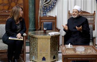 الإمام الأكبر يبحث مع وزيرة التضامن الاجتماعي سبل التعاون المشترك | صور