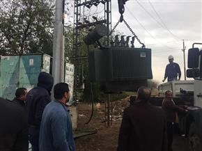 رفع كفاءة شبكة الكهرباء في الزعفران بكفر الشيخ | صور