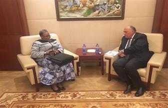 شكري يبحث مع نائب رئيس الوزراء ووزيرة خارجية ناميبيا العلاقات الثنائية والقضايا الإفريقية