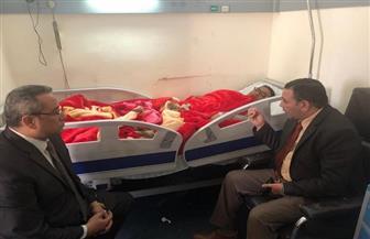وزير الزراعة يطمئن على طبيب بيطري أصيب في حملة الوقاية من الحمى القلاعية |صور