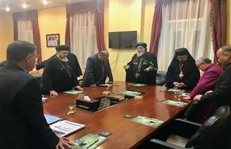 رؤساء الكنائس يجتمعون للصلاة قبيل الاحتفال بالذكرى السادسة لتأسيس مجلس كنائس مصر |صور