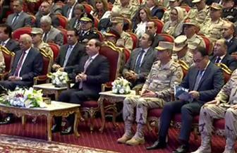 الرئيس السيسي يشاهد فيلما تسجيليا عن بطولات القوات المسلحة في الندوة التثقيفية بمناسبة يوم الشهيد