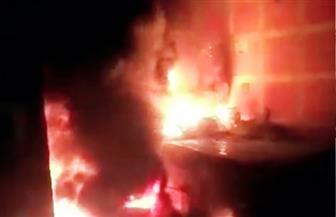 إصابة 28 شخصًا باختناقات في حريق بمصنع ألبان بالإسكندرية | صور