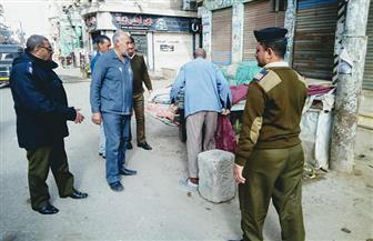 حملة لرفع الإشغالات بشوارع مدينة الحامول وضبط التكاتك المخالفة | صور