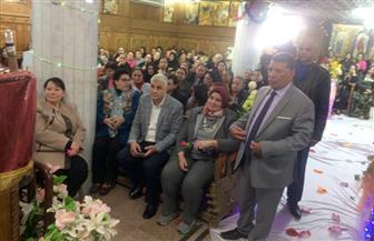 """وفد من """"مستقبل وطن"""" يزور كنيسة مارمرقص بإمبابة لتهنئة كاهنها بمرور 41 عاما على رسامته"""