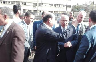 وزير النقل يتفقد برج الشمال واستراحة السائقين بمحطة مصر