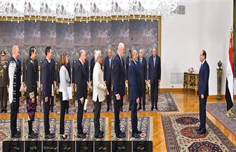 الرئيس السيسي يتسلم أوراق اعتماد خمسة عشر سفيرا جديدا | صور