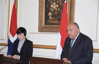 تفاصيل المباحثات الثنائية بين وزير الخارجية المصري ونظيرته النرويجية