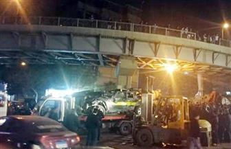 النيابة تبدأ التحقيق في انقلاب سيارة شرطة من أعلى كوبري أرض اللواء