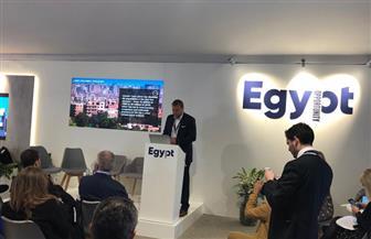 مسئولو مكتب دار الهندسة للاستشارات بلندن يلقون محاضرة بمعرض عن المشروعات المصرية | صور