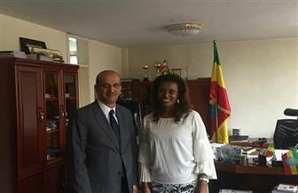 سفير مصر بأديس أبابا يلتقي رئيسة المحكمة الفيدرالية العليا الإثيوبية   صور