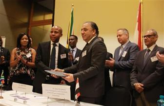 الجبلي يوقع مذكرة تفاهم بين اتحاد الصناعات المصرية والجنوب إفريقية