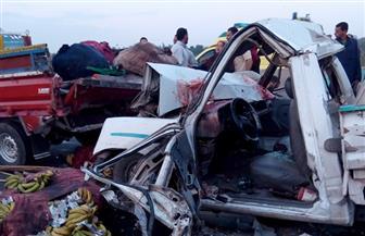 مصرع وإصابة 6 أشخاص في حادثي تصادم على الطريق الصحراوي سوهاج ـ البحر الأحمر