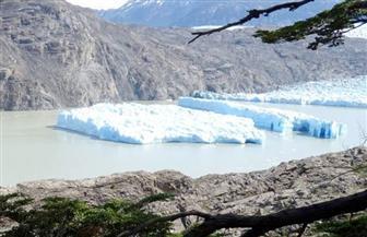 انفصال جبلين جليديين من كتلة غراي في جنوب تشيلي