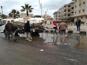 أمطار متوسطة على كفرالشيخ.. ورياح شديدة توقف عمليات الصيد | صور