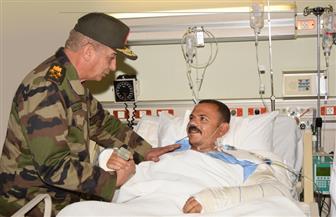الفريق أول محمد زكي يزور المرضى والمصابين بالمستشفيات العسكرية