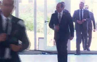 الرئيس السيسي يصل إلى مقر انعقاد ملتقى الشباب العربي - الإفريقي في أسوان