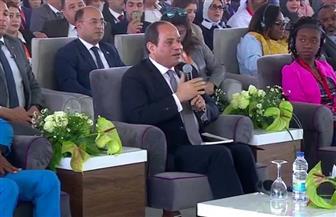 الرئيس يؤكد أهمية الوعي لدى الشباب بالتحديات التى تواجه بلادنا