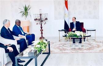 تفاصيل استقبال الرئيس السيسي موسى فقيه رئيس مفوضية الاتحاد الإفريقي