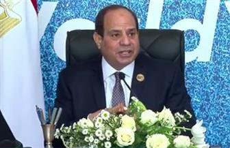 الرئيس السيسي: مصر على استعداد كامل للتعاون مع دول القارة الإفريقية وليس السودان فقط