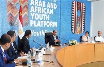 الرئيس السيسي: الإرهاب والفساد والصراعات الداخلية تحديات كبيرة تواجهها المنطقة