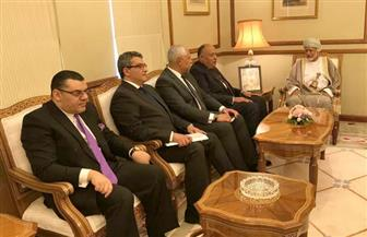 جلسة مباحثات ثنائية لوزيرى خارجية مصر وعمان حول أبرز القضايا الإقليمية| صور