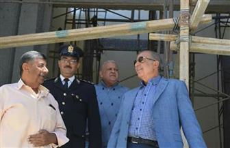 """محافظ البحر الأحمر يتفقد أعمال التطوير بطريق المطار ومسجد """"الدهار"""" بالغردقة   صور"""